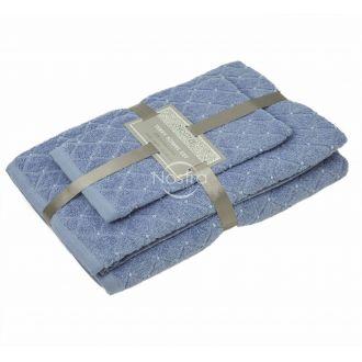3 pieces towel set T0107 T0107-SOFT BLUE