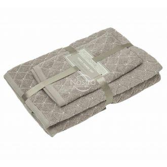 3 pieces towel set T0107 T0107-SHADOW GREY