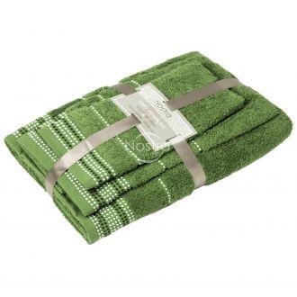 3 pieces towel set T0044 T0044-GREEN D28