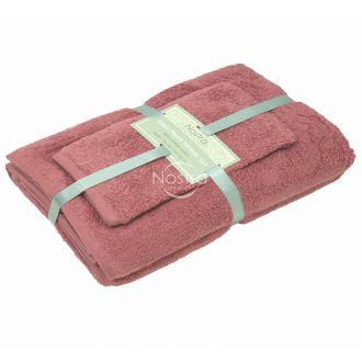 3 pieces towel set 380 ZT 380 ZT-DUSTY ROSE