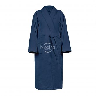 Bathrobe VELOUR-430 430 BATHROBE-BLUE