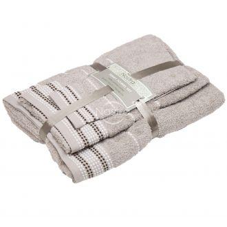 3 pieces towel set T0044 T0044-TAUPE