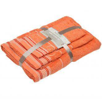 3 pieces towel set T0044 T0044-ORANGE