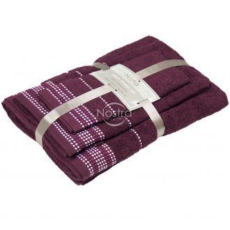 3 pieces towel set T0044 T0044-BURGUNDY