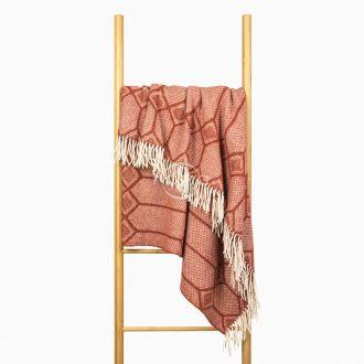 Woolen plaid MERINO-300 80-3238-TERRA