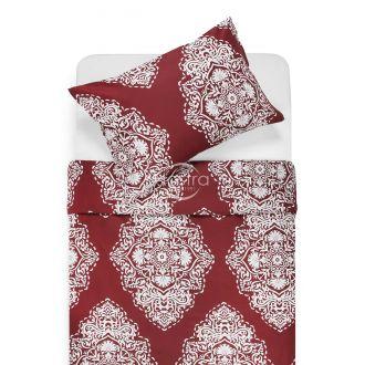 Sateen bedding set ADONIA 40-1174-WINE RED