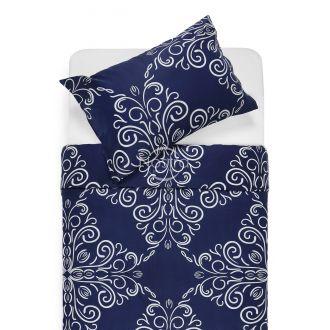Sateen bedding set ADORABELLA 40-1175-DARK BLUE