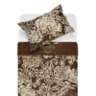Sateen bedding set ADOLPHINE 20-1562-BROWN