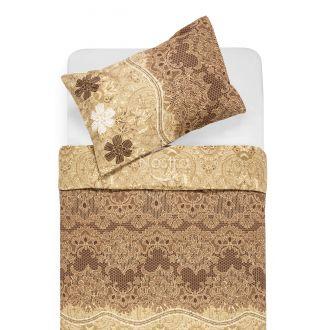 Cotton bedding set DENIM 40-1007-BROWN