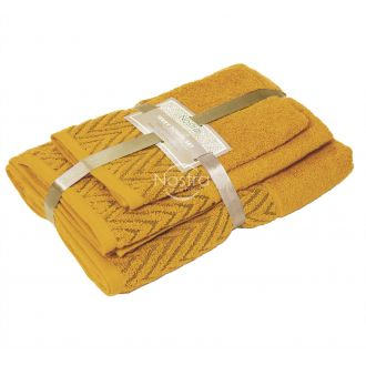 3 pieces towel set T0108 T0108-MUSTARD YELLOW