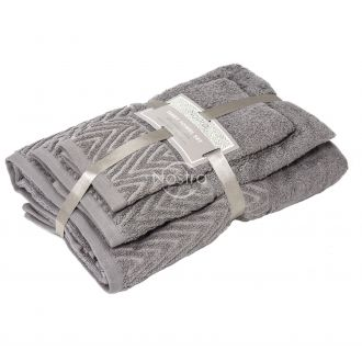 3 pieces towel set T0108 T0108-DARK TAUPE