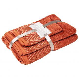 3 pieces towel set T0108 T0108-DARK ROSE