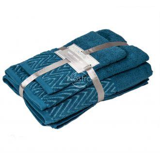 3 daļu dvieļu komplekts T0108 T0108-CARIBBEAN BLUE