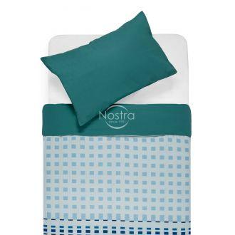 Cotton bedding set DAVINA 40-0801/00-0312-BLUE/PETROL