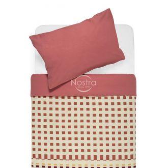 Cotton bedding set DAVINA 40-0801/00-0132-MELON/T.ROSE