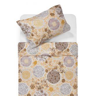 Cotton bedding set DAYRA 40-1031-BROWN