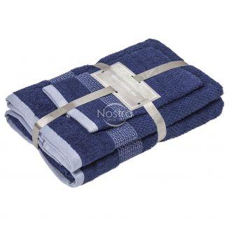 3 pieces towel set T0106 T0106-NAVY 266