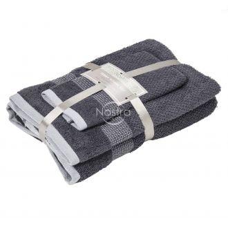 3 pieces towel set T0106 T0106-EXC.GREY
