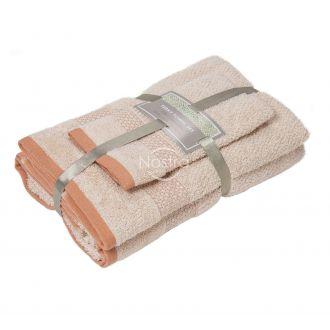 3 pieces towel set T0106 T0106-CREAM