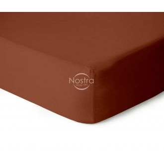Fitted jersey sheets JERSEY-TERRACOTTA