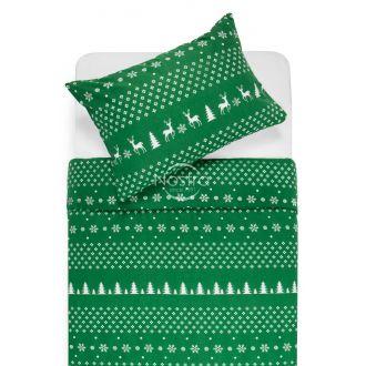 Flannel bedding set BIANCA 10-0544-GREEN