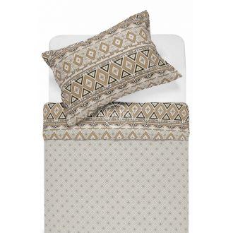 Flaneļa gultas veļa BRIDGET 40-1165/40-1166-BROWN