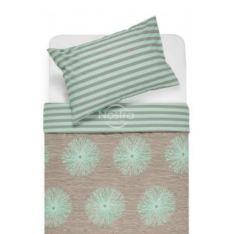 Cotton bedding set DEMAS 40-0681/30-0401-CACAO/MINT