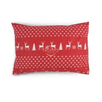 Flannel pillow cases with zipper 10-0544-RED