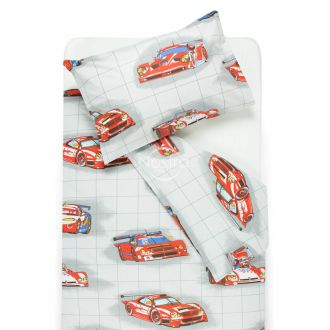 Children bedding set RACING CARS 10-0360-RED