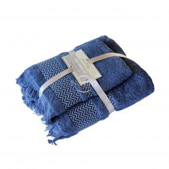 2 pieces towel set T0058 T0058-NAVY