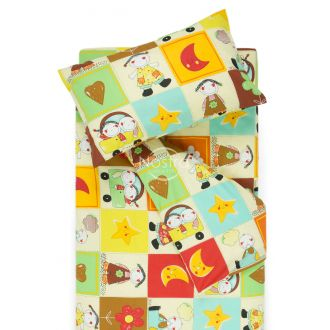 Children bedding set HAPPY DAYS 10-0427-BROWN