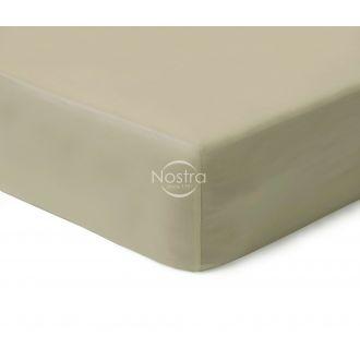 Атласная простыня на резинке 00-0277-TAUPE