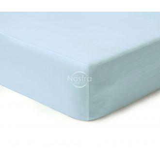 Атласная простыня на резинке 00-0270-L.BLUE
