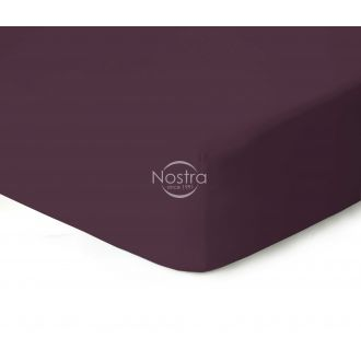 Fitted jersey sheets JERSEY-DARK PLUM