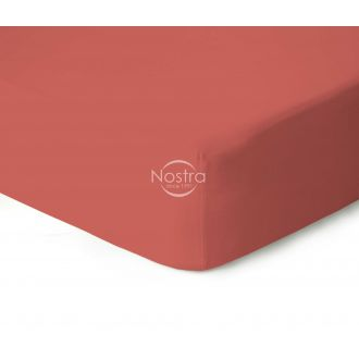 Fitted jersey sheets JERSEY-TERRACOTA