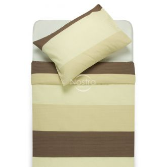 Seersucker bedding set ESPERANZA 30-0524-BROWN