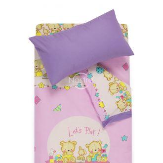 Bērnu katūna gultas veļa BEARS 10-0215/00-0139-PINK/ORCHID BLOOM