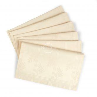 Jacquard sateen napkins, 6 pcs 80-0006-L.CREAM