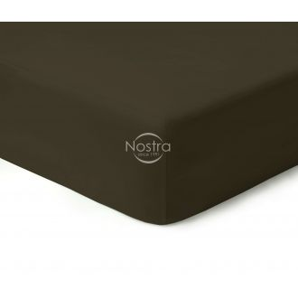 Fitted sateen sheets 00-0154-DARK BROWN