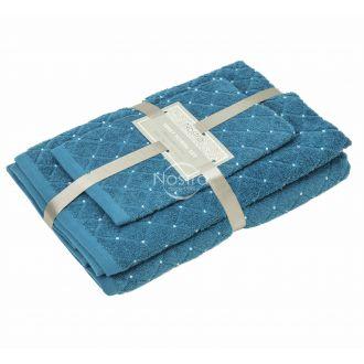 3 daļu dvieļu komplekts T0107 T0107-MOSAIC BLUE