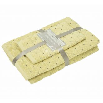 3 pieces towel set T0107 T0107-DUSTY YELLOW