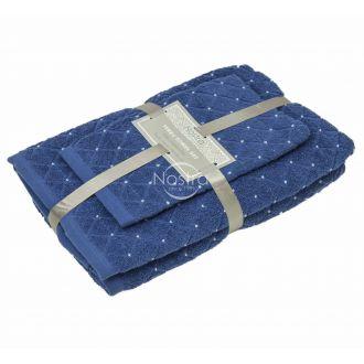 3 pieces towel set T0107 T0107-CLASSIC BLUE