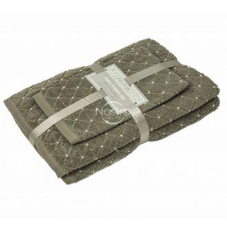 3 pieces towel set T0107 T0107-BROWN 393