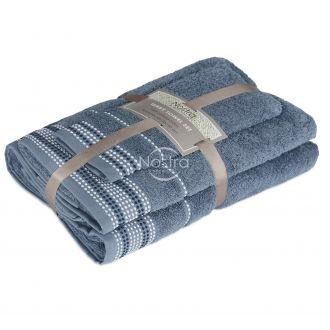 3 pieces towel set T0044 T0044-STONE BLUE