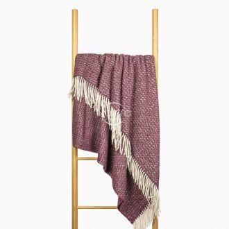 Woolen plaid MERINO-300 80-3133-DARK PLUM