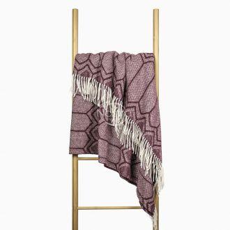 Woolen plaid MERINO-300 80-3232-DARK PLUM