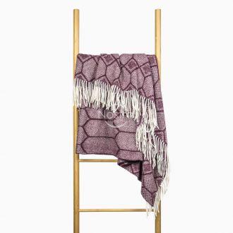 Woolen plaid MERINO-300 80-3237-DARK PLUM