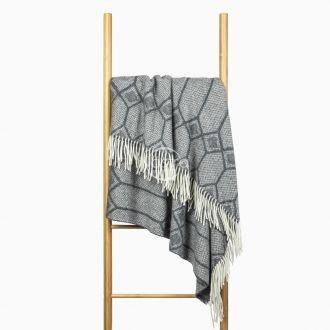 Woolen plaid MERINO-300 80-3237-GREY