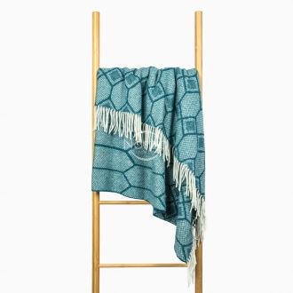 Woolen plaid MERINO-300 80-3237-MARINE