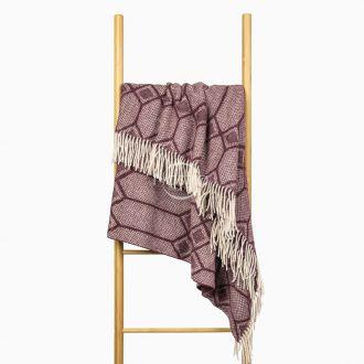 Woolen plaid MERINO-300 80-3238-DARK PLUM
